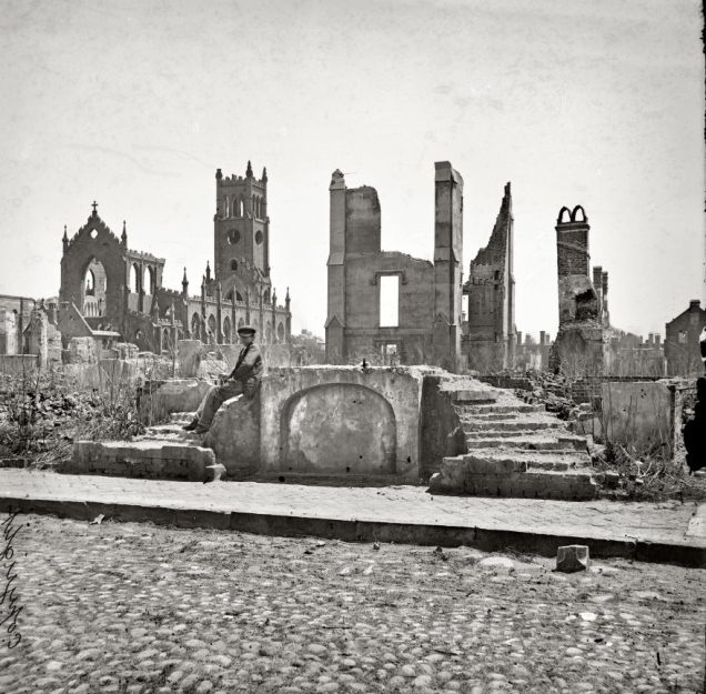 Charleston ruins of 1861 fire