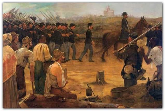 Entering Vicksburg 4 July 1863