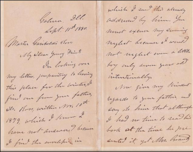 Grant 1880 letter 1