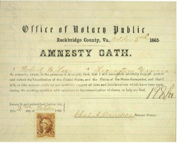 Lee amnesty oath