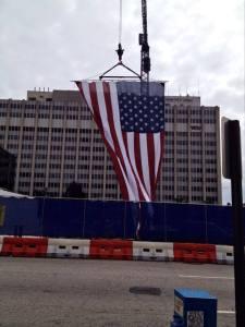 US flag downtown Richmond