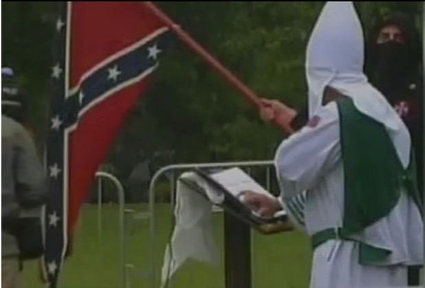 A previous KKK rally at Gettysburg.