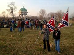 Crowds at Antietam turn their back on two Virginia Flaggers