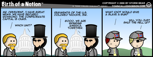 CSA black enlistment cartoon 3