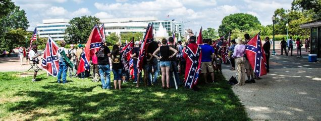 It's not respectful to Confederate soldiers when you wear your flag as a cape. Just sayin'.